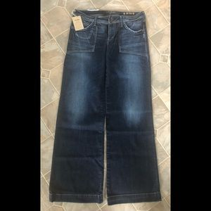 Silver Andy Wideleg Jeans Brand New